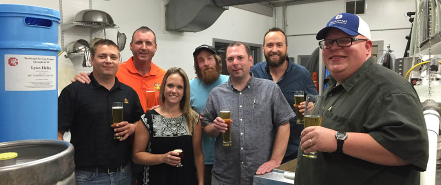 Atlas Sales visiting Territorial Brewing Company