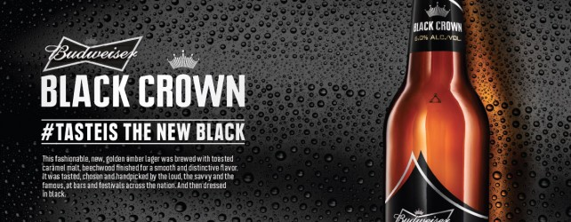The 'King of Beers' Unveils Budweiser Black Crown