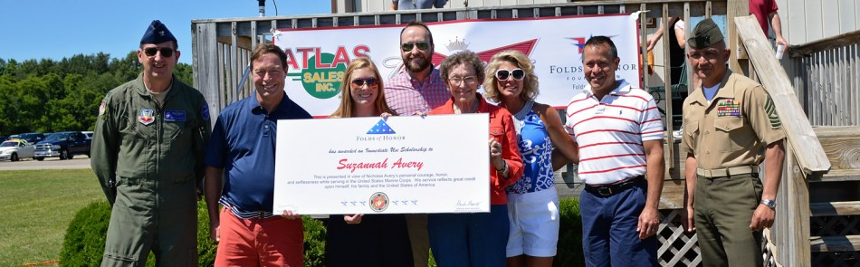 Atlas Sales presents Folds of Honor scholarship
